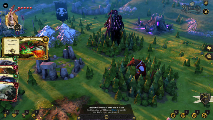 Armello is beautiful, but wish there would be a more distant view to see the entire map.
